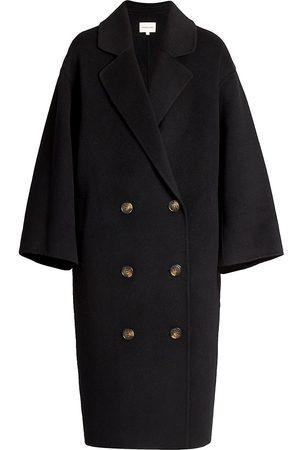 Loulou Studio Women's Borneo Double Breasted Wool & Cashmere Coat - - Size Medium