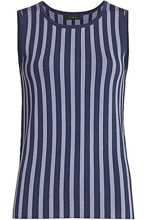 Saks Fifth Avenue Women's COLLECTION Plaited Stripe Shell - - Size XS