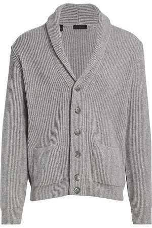 Saks Fifth Avenue Men's COLLECTION Rib-Knit Shawl Collar Cardigan - - Size XL