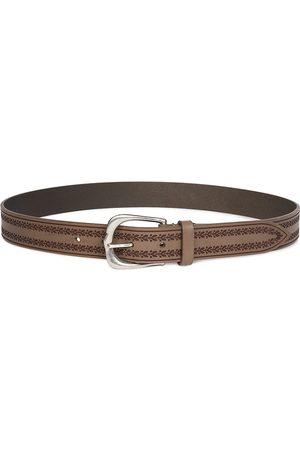 Isabel Marant Women Belts - Women's Linna Embroidered Leather Belt - Khaki - Size Medium