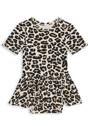 Posh Peanut Baby Girl's Lana Leopard-Print Twill Skirt Bodysuit - - Size 12-18 Months