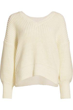 Cinq A Sept Women's Antonella Knit Puff-Sleeve Sweater - - Size Medium