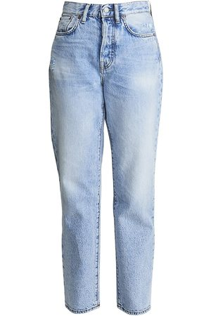 Acne Studios Women's High-Rise Boyfriend-Fit Five-Pocket Cropped Ankle Jeans - - Size 23 (00)
