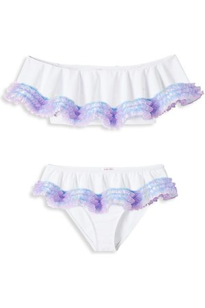 STELLA COVE Little Girl's & Girl's 2-Piece UPF 50+ Ruffle Bikini Set - - Size 10