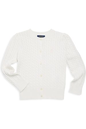 Ralph Lauren Girl's Cable-Knit Cotton Cardigan - - Size Large (12-14)