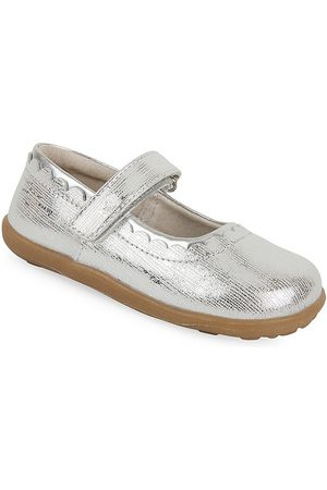 See Kai Run Little Girl's Jane II Leather Mary Jane Flats - - Size 13 (Child)