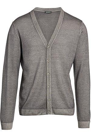 Saks Fifth Avenue Men's COLLECTION Garment Dyed Merino Wool Cardigan - - Size Medium