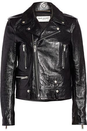 Saint Laurent Women's Classic Leather Moto Jacket - - Size 42 (10)