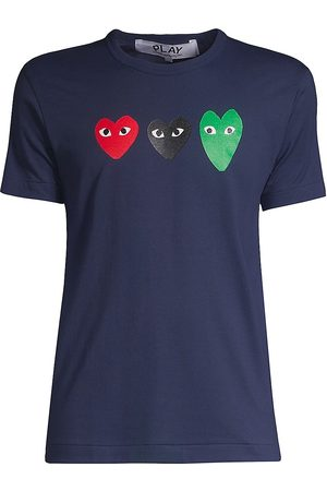 Comme des Garçons Women's Three Heart Logo T-Shirt - - Size XS