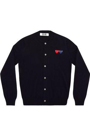 Comme des Garçons Women's Double Heart Wool Cardigan - - Size XS