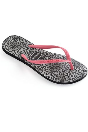 Havaianas Little Girl's & Girl's Leopard-Print Flip Flops - - Size 29-30 EU (13-1 Child US)