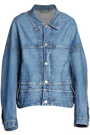 Balenciaga Women's Upside Down Denim Jacket - - Size 44 (10)