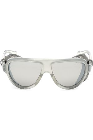 Moncler Women's 57MM Clear Shield Sunglasses
