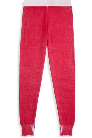 MINNIE ROSE Girl's Cozy Reversed Frayed Joggers - - Size 12