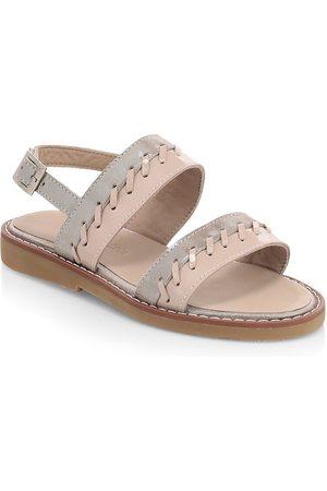 Elephantito Baby's, Little Girl's & Girl's Larissa Whipstitch Leather Slingback Sandals - - Size 29 EU (12 Child US)