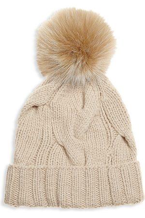 Loro Piana Women's Berrtto Fox Fur Pom Pom & Cashmere Beanie