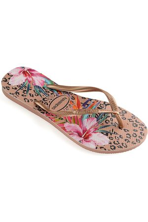 Havaianas Baby's, Little Girl's & Girl's Slim Animal Floral Flip Flops - - Size 29-30 EU (13-1 Child US)