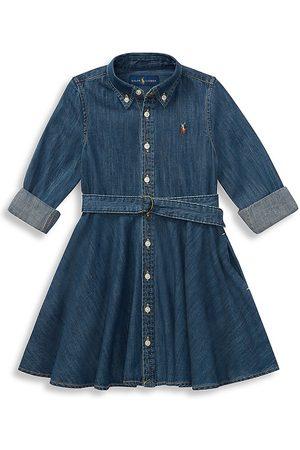 Ralph Lauren Little Girl's & Girl's Belted Denim Shirtdress - - Size 6