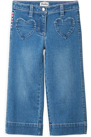Hatley Girls Wide Leg - Little Girl's & Girl's Stretch Wide-leg Jeans - - Size 5
