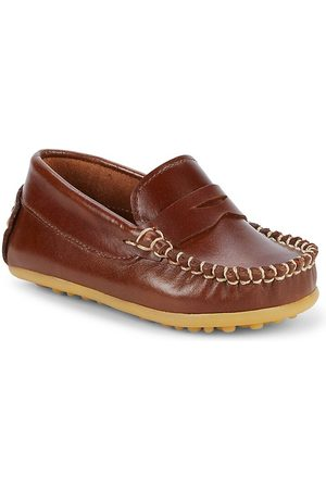 Elephantito Baby Boy's Alex Leather Driving Loafers - - Size 4 (Baby)