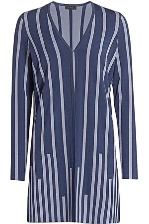 Saks Fifth Avenue Women's COLLECTION Plaited Stripe Open-Front Cardigan - - Size XS