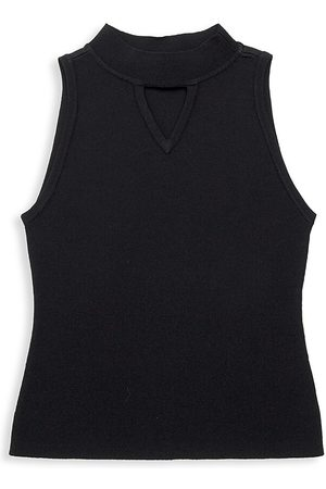 Milly Little Girl's & Girl's Cutout Mockneck Tank - - Size 14-16