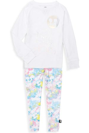 Boy Meets Girl X Care Bears Little Girl's & Girl's 2-Piece Organic Cotton Top & Joggers Set - - Size 6