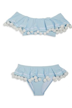 STELLA COVE Little Girl's & Girl's 2-Piece UPF 50+ Pom-Pom Bikini Set - - Size 10