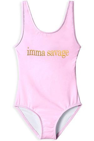 STELLA COVE Little Girl's & Girl's Imma Savage Graphic Swimsuit - - Size 10