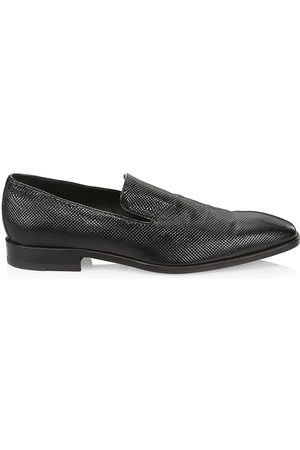 Saks Fifth Avenue Men's COLLECTION Inigo Stamped-Leather Smoking Slippers - - Size 14