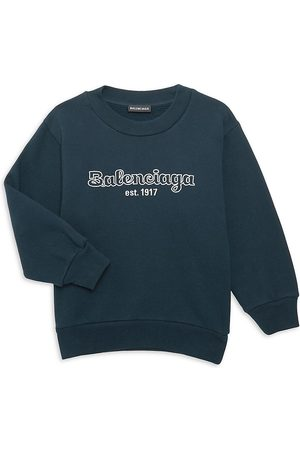 Balenciaga Little Kid's & Kid's Embroidered Logo Crewneck Sweatshirt - - Size 8