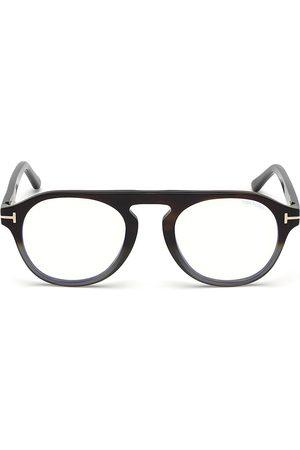 Tom Ford Women's 49MM Blue Block Gradient Soft Round Eyeglasses