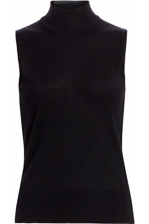 Saks Fifth Avenue Women's COLLECTION Sleeeveless Mockneck Cashmere Knit - - Size Small