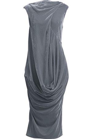 Rick Owens Women's Ellipse Velvet Midi Dress - - Size 40 (4)