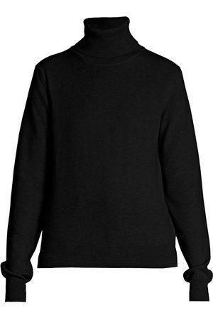 Maison Margiela Women's Logo Elbow-Patch Turtleneck Wool Sweater - - Size Medium