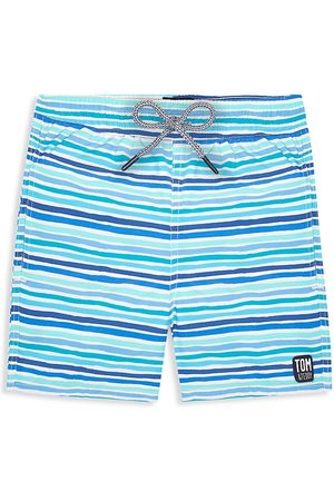 Tom & Teddy Little Boy's & Boy's Striped Swim Trunks - - Size 7-8