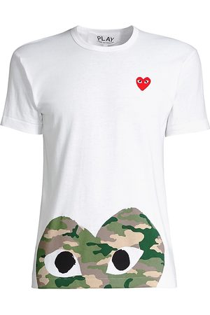 Comme des Garçons Women's Camo Heart Play T-Shirt - - Size Medium
