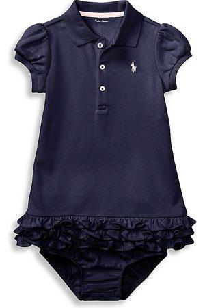 Ralph Lauren Baby Girl's Ruffled Polo Dress & Bloomers Set - - Size 6 Months