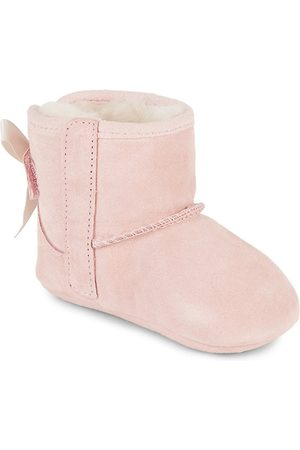 UGG Baby Girl's Jesse Bow II Suede Booties - - Size Small