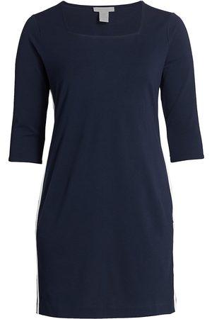 Joan Vass Women's Racing Stripe Dress - - Size 3X (22-24)