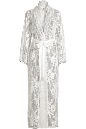 Jonquil Women's Collette Lace Longline Robe - - Size Small