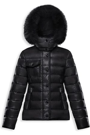 Moncler Little Girl's & Girl's New Armoise Fur-Trim Puffer Coat - - Size 12