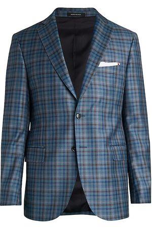 Saks Fifth Avenue Men's COLLECTION Multi-Plaid Sportcoat - - Size 48 L
