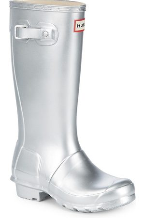 Hunter Kid's Original Metallic Rubber Rain Boots - - Size 13 (Child)