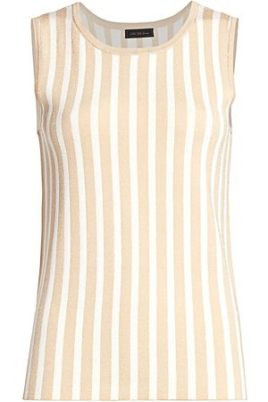 Saks Fifth Avenue Women's COLLECTION Plaited Stripe Shell - - Size Small