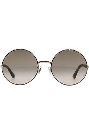 Jimmy Choo Women's Lilo 58MM Round Glitter Sunglasses