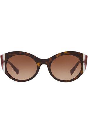 VALENTINO Women's VA4039 Grad Burgandy 53MM Round Sunglasses