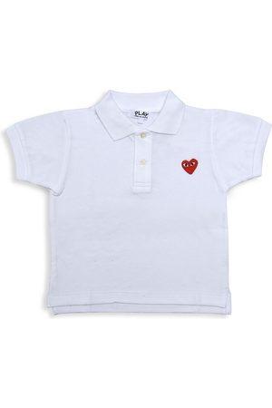 Comme des Garçons Little Kid's Logo Polo Shirt - - Size 2