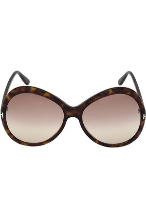 Tom Ford Women's Rose 63MM Round Sunglasses