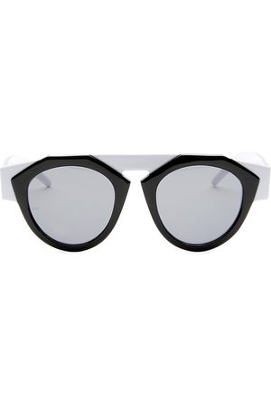 Smoke X Mirrors Women's x FIORUCCI & White Round Sunglasses